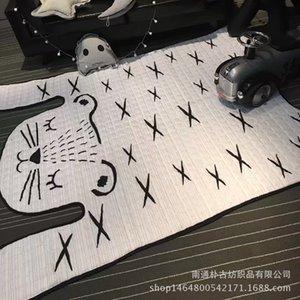 INS Hot vente Coton Modeling Mat Big Tiger Tapis Tapis de jeu Escalade Non-Slip Tapis soutien