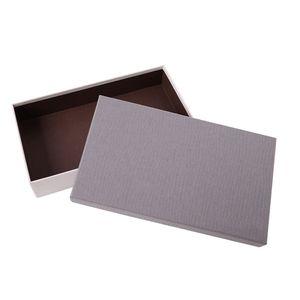 Vente en gros Flat Pack couvercle en carton et la base Boîte personnalisée Impression sur papier couché shirt Habillement Emballage cadeau Boîte