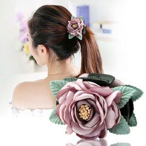 i-Remiel Korean Cloth Art Fabric Flower Hair Elegant Hairpin Sweet Princess Fashion Headwear Girl Women Hair Accessories