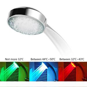 7 Cor Mudar Cabeça de chuveiro LED colorido LED água do chuveiro Head Light Brilho LED Faucet Light