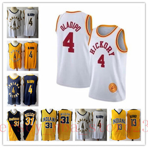Mens 31 ReggieMiller Retro or rouge Jersey 4 VictorOladipo 13 George Reggie nbaMiller IndianaPacers Basketball Maillots