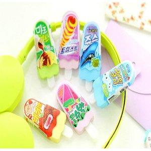 Wholesale-2pcs lot novelty Ice Cream rubber eraser kawaii creative kawaii stationery school supplies papelaria gift for kids Free shipping