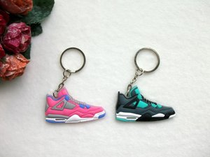 NEW Mini Silicone Shoes Keychain Bag Charm Woman Men Kids Key Ring Gifts Sneaker Key Holder Key Chain 3d sneaker 3d sneaker keychains