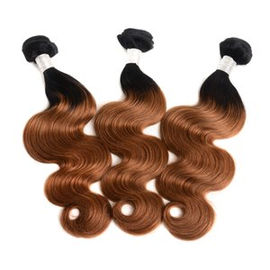 1B 30 Remy Brazilian Double Drawn Body Wave 3 Bundles Human Hair Weft Bundles For Black Woman