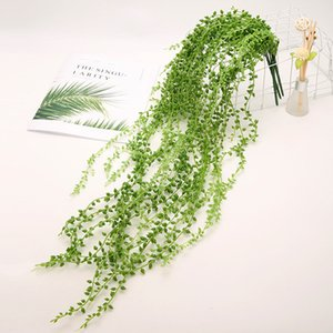 Perline succulente artificiale falso Hanging Vite String of Pearls Lover Tears Piante per casa festa di nozze Garden Decor Faux Piante