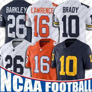 NCAA Michigan Wolverines 10 Tom Brady Jersey Trevor Lawrence Formalar Saquon Barkley 7-23 Baker Mayfield Elliott Khalil Mack Josh Allen