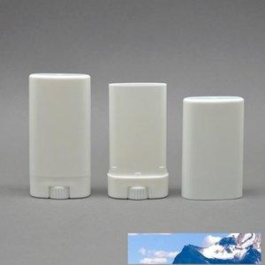 Les contenants vides Déodorant ovale en plastique Baume à lèvres Tubes avec embout pour couvercle 15ML Rouge à lèvres, crayon, baume à lèvres, maison Baume à lèvres, sans BPA
