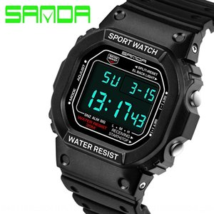 7QPOk Sunda new wrist multi-functional sports electronic meter Electronic waterproof meter leisure watch Japanese fashion personalized coupl