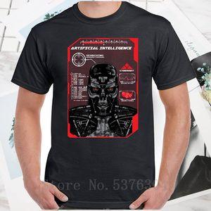 Искусственный интеллект Mens T-Shirt Terminator Стиль