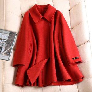 Bambola Cape breve donne del collare di lana cappotti 2020 autunno inverno caldo solido colore del cappotto di versione coreana di casual tendenza il retro Coat