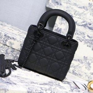 Designer de luxo Bolsas Bolsas Mulheres saco de ombro do couro genuíno com Houndstooth Tecido CrossBodybag Saddle Handbag alta qualidade saco