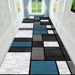 현대 복도 통로 카펫 홈 거실 센터 러그 호텔 복도 카펫 북유럽 기하학적 계단 미끄럼 주방 매트