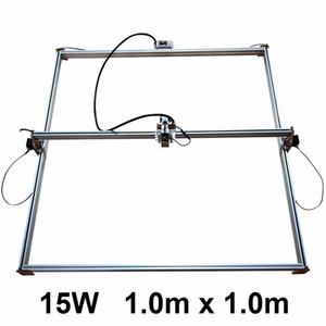 DIY 15W Big Power Laser Metal Engraver, CNC Metal Cutter Machine,1*1m, Big Work Size Laser Printer Engrave Machine Marking uSgW#