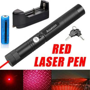 10 mile Kırmızı Lazer Pointer Kalem Yıldız Cap Astronomi 650nm 2in1 303 Görünür Işın Lazer Kedi / Köpek Oyuncak + 18.650 Pil + Şarj