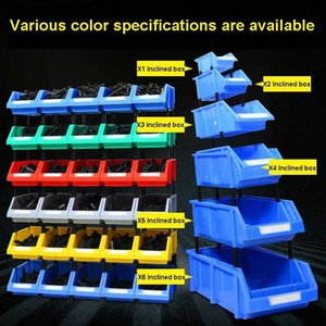 thickening Storage shelves case Inclined mouth Component combination Component box Plastic box screw vertical Storage J8d5#