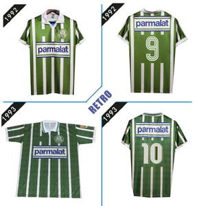 Palmeiras Camiseta de futbol clássicas 92 93 camisas de futebol 1992 1993 Futebol Retro Jerseys 92 93 casa do vintage verde