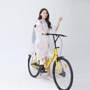 bicicleta eléctrica capa espesa de bicicletas poncho impermeable al aire libre del alpinismo impermeable portable el adulto con mochila capa poncho