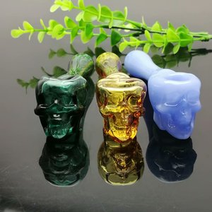 Colorful skeleton glass pipe Hot selling in Europe and Americaglass pipe bubbler smoking pipe water Glass bong