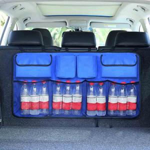 Auto-Innen Zubehör Hochrücksitzlehne Aufbewahrungstasche Multi Hänge Nets Tasche Trunk Bag Organizer Auto-Kofferraum Organizer Mit Cooler f0nj #