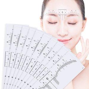 100шт многоразового Semi Постоянных Бровей RulerMicroblading Суппорт Трафарет для макияжа бровей Measure Tool Бровь Руководство Линейка