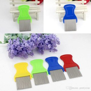Dog Cat Pets Hair Flea Lice Nit Comb Pet Safe Flea Eggs Dirt Dust Remover Stainless Steel Grooming Brushes Tooth Brushs Pet Products