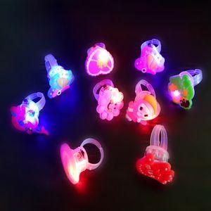 Glowing Flash Rings Child Luminous Toys for Kids Cartoon Led Finger Light Flashing Toys Baby Girl Birthday Gift