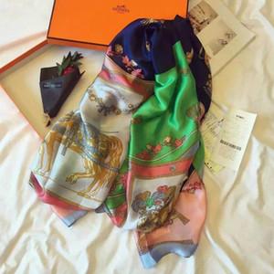 2020 nuovo Hermes sciarpa classica di seta di marca sciarpa di seta di estate Frivolous Telo scialle di seta sciarpa con etichetta Dimensioni 180x90cm