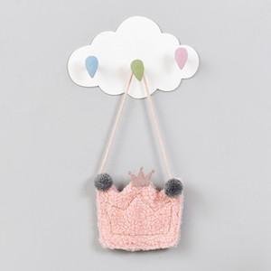 Créativité design ABS Chambre Mur Bâton Crochet Nuage Forme Salle de bain Cuisine Utiliser colle Sans trace sans clou Raindrop Crochet Tenture DH0047