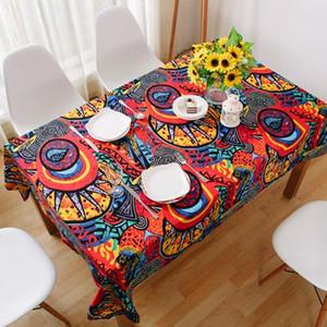 Sudeste Asiático estilo étnico Toalha de algodão toalhas de mesa de café de pano Tampa retro Mediterrâneo Bar Cafe Toalha Tecido Toalha de Mesa