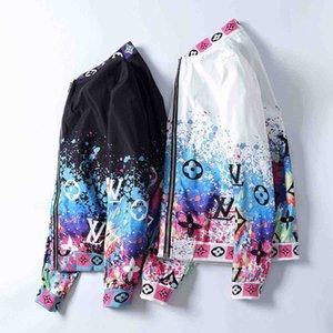 Collare Medusa Jacket stand 20ss Paris Fashion Designer primavera e l'autunno Trend Jacket Stampa Slim Fit Maglietta a maniche lunghe Cardigan