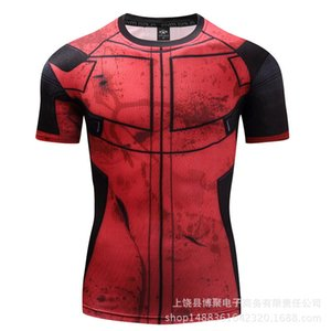 Bo Ju 3D printed men's T-shirt short sleeve Punisher high elasticity fitness tights sports quick-drying clothes