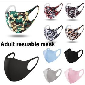 Waschbare Elastic Tarnung Mund Masken Camo Druck Designer Earloop Respirator Staub Filtrition Gesichtsmaske für Mann und Frau DHL schnelles Verschiffen