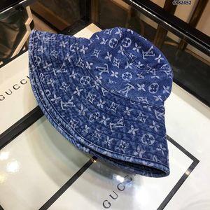 Sun Bucket Hat Cowboy Azul pescador Bucket Chapéus Verão dobráveis bonés mulheres Praia Viseira Folding Man Bowler Cap W116