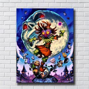 Legend of Zelda, Majoras Mask, HD-Leinwand-Druck neue Hauptdekoration-Kunst-Malerei / (Unframed / Framed)