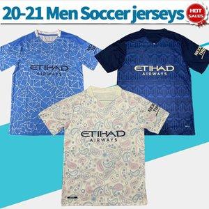 City soccer Jerseys Home away third 20 21 Men #10 KUN AGUERO #17 DE BRUYNE soccer shirt Customized Football Uniforms 2020