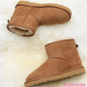 High Quality designer Boots Australia Snow Boots Women Real Fur Wool 100% Genuine Leather Ankle Boots Brand Ivg