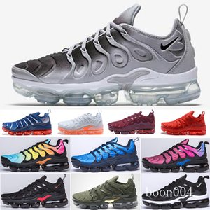 Free Shipping New 2019 Mens Shoe Sneakers TN Plus Breathable Air Cusion Desingers Casual Running Shoes New Arrival Color US5.5-11 EUR OUU7D