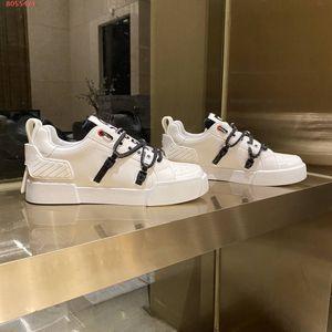 Sneaker Portofino scarpe da tennis delle donne degli uomini caldi in vitello lacci rotondi pelle verniciata di suola in gomma di moda le scarpe da tennis piane con scatola