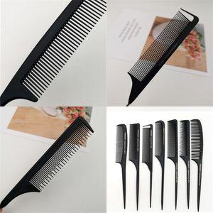 Capelli Pettine di metallo Maggiore Anti Statica della coda di ratto pettina i capelli Spazzola in acciaio Needle Iron Point compone l'attrezzo 1YT E2