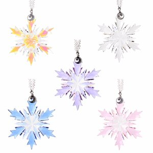 2019 New Arrived 5 Color Top Quality Christams Crytal Snowflake Hanging Glass Pendants Chandelier Parts Ornament Party Decor
