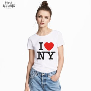 Women Casual T Shirts For Summer I Love V Neck Ny Yaoi Dalaas Argentina T Shirt York Printed Red Heart High Quality