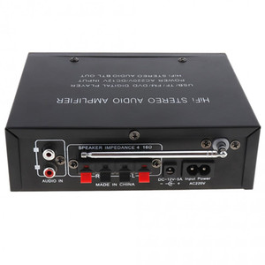 Freeshipping DC12V AC220V AC110V Bluetooth 2CH Hi-Fi Car Stereo Audio Power Amplifier Digital Player Support USB   SD   FM   DVD
