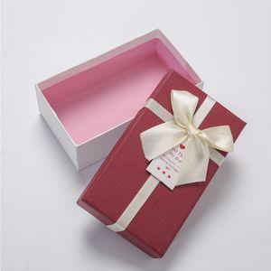 Производитель Customized Red Картонный Роскошные свадебные сувениры конфеты Подарочные коробки с лентой Подарочные коробки для упаковки с лентой