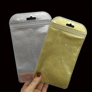 Não-tecidos Resealable Zipper plástico Retail caixa do pacote de embalagem Bag fosco prata dourado Opp embalagem para Cabo USB headphones