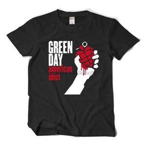 Xuanyutee Greenday New Punk Rock T Shirt Homme Cotton O Neck Short Sleeve Print American Idiot Fan Fashion 2Xl T Shirt Men Black