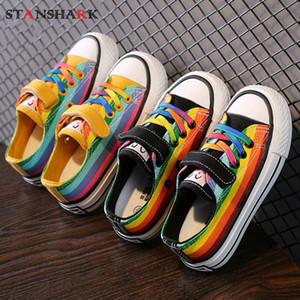 2020 Frühlings-Herbst-Kind-Schuhe Kind-Jungen-Mädchen-Segeltuch-Turnschuh-Schuhe Kleinkind-Haken Tenis Infantil beiläufige Sportschuhe Chaussure