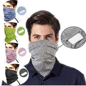 DHL shipping Scarf Bandanas Neck Gaiter With PM 2.5 Filter Magic Turban Multi Purpose Face Cover for Men Women Outdoor Masks Scarves