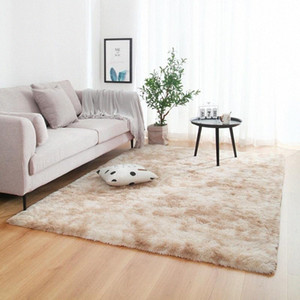 Anti-slip Floor Mats Grey Carpet Tie Dyeing Plush Soft Carpets Bedroom Water Absorption Carpet Rugs For Living Room Bedroom sdyx#