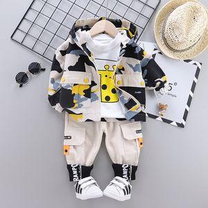 Baby boys clothes sets spring autumn toddler fashion coat t-shirts pants 3pcs tracksuits for boys infant jogging suits 2020