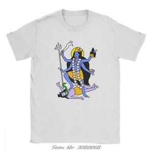 Шива Кали Индийский стиль футболки Мужчины Hot Sale Одежда Уникальные футболки O-образным вырезом 100% хлопок Тис Уличная